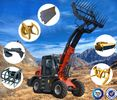 2.5 Ton Multifunctional Telescopic Wheel Loader With 1.3 CBM Bucket