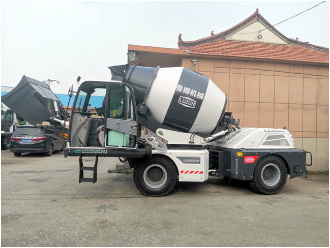 Mechanical Drum Bottom Lifting 3.5 Cbm Mobile Concrete Mixer Truck