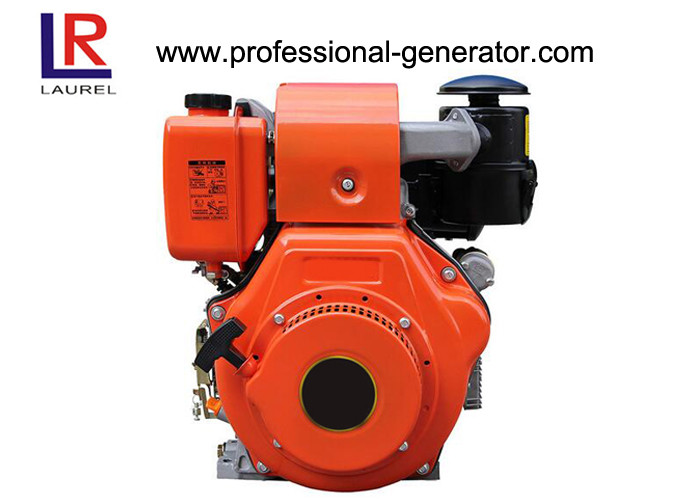 Air Cooled 12HP Industrial Small Diesel Engine with Recoil or Electric Start , Crankshaft