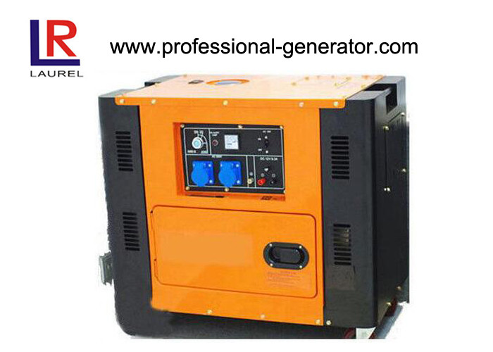 Square Type Silent Diesel Generator Electric Start Low Oil Alarm 4.5 kW - 5kW