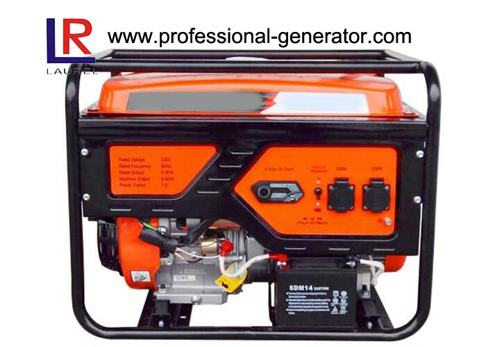 Air Cooled Effective 6kw Gasoline Generators with Forced Single Cylinder