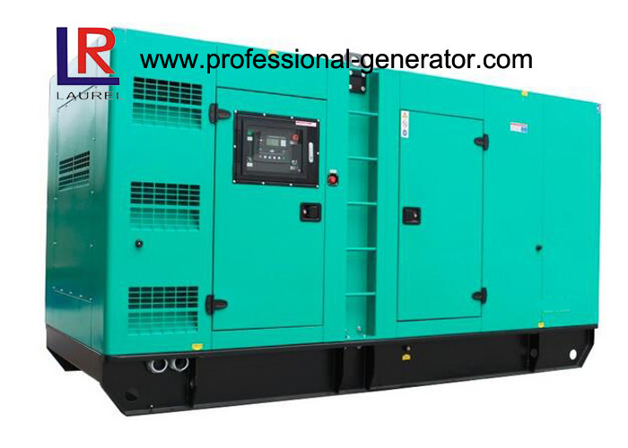 400kVA Soundproof Cummins Diesel Generator Set Forced Water Cooling Cycle