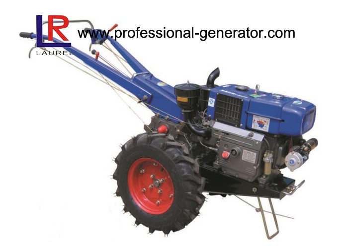 High Capability Farm Machinery 12HP Mini Hand Walking Tractor , Reaper Plough Mower Optional
