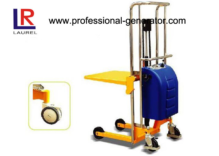 400 KGS 1.2 Meters Mini Electric Platform Stacker with High Efficiency Power Machinery