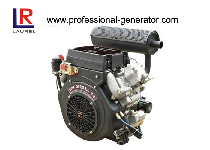 Four stroke 20HP Air Cooled Electric start  Diesel Engine by V Twin